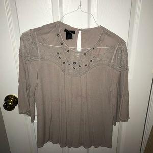 Purple Embellished Shirt